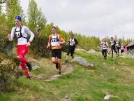 Henrik Grønstad, totalvinner menn senior Eivind Bjeglerud Klemoen, Kristian Braathen, Jonas Nermoen og Ådne Tverfjell Madsen(107). Foto: Torolf Celius